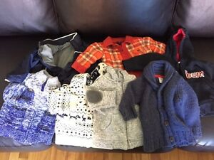 Boy, sz 3-6 mos, sweaters and jackets