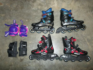 Roller Blades and Knee/Elbow Protectors