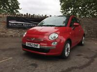 Fiat 500 1.2 (START/STOP) LOUNGE 2012 in Red | 4 NEW TYRES!! £36.81 PER WEEK!