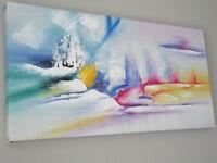Très beau tableau à peinture à l'huile