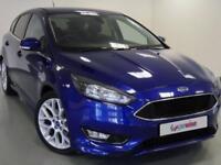 2016 Ford Focus 1.0 EcoBoost 125 Zetec S 5dr Petrol blue Manual