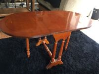 Small yew drop leave table