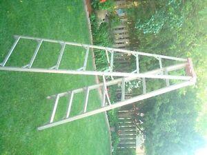 7 1/2 ALUMINUM foot step ladder $60.00.....obo