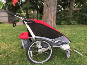 Cougar 2 Double Chariot - With Stroller Wheels & Bike Attachment