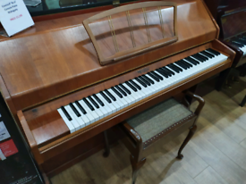 Eavestaff 'mini' console piano mahogany for sale