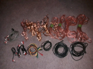 Large lot of assorted sizes of good quality speaker wire & RCA