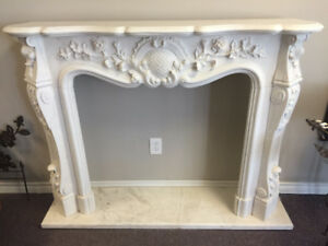 New MARBLE FIREPLACE MANTEL
