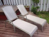 Patio Chairs/Loungers. Set of 2