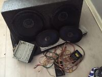 Sub 12inch & ampGT alpine 6x9 pioneer stereo and wires