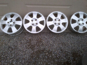 4- ALUMINUM FORD RIMS, IN GOOD CONDITION 4 X 108