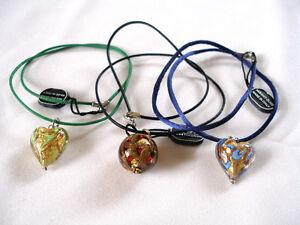 VENETIAURUM- 24k Gold Murano Glass Pendant & Necklace