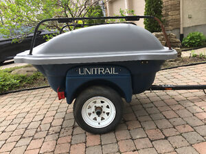UNITRAIL Trailer - Enclosed with Lid (removable) + Top cargo bar