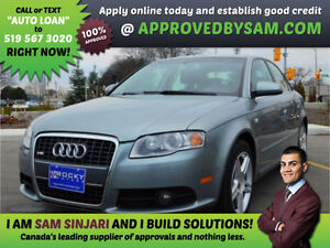 AUDI A4 - HIGH RISK LOANS - LESS QUESTIONS - APPROVEDBYSAM.COM Windsor Region Ontario image 1