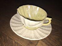 Belleek neptune teacup and saucer