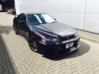 1995 M Reg Nissan SKYLINE R33 2.6 GTR Twin Turbo + Purple + LEATHER