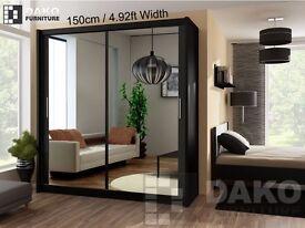 Wardrobe PARIS 150 Black/white