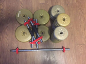 DUMBELL BARS + WEIGHTS