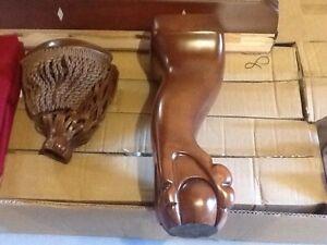 8 foot solid wood pool table
