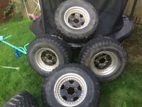 Mitsubishi shogun/ Pajero/ l200/ DID off road on road alloy wheels and tyres