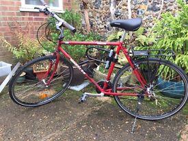 Large men's hybrid bicycle