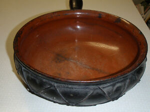 Wired terra cotta pot, real old, possible Italian