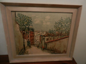 Maurice Utrillo Lithograph/Prints Lot of 2 Framed