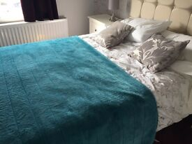 Teal throw from Next