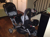 EXCELLENT CONDITION SIT AND STAND DOUBLE STROLLER