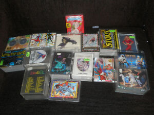 many different sets of collectors cards