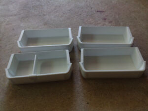 4 Refrigerator Door Bins / Shelves fit Kenmore, Frigidaire, etc