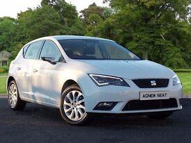 SEAT Leon 1.6 TDI SE (Tech Pack) 5dr (start/stop) (white) 2013