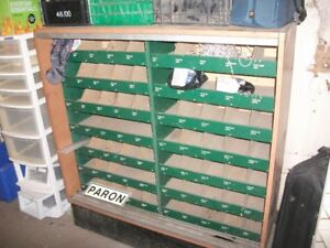 "49 1/4"" high by 48"" wide by 15 5/8"" deep storage bin"
