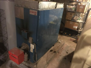 Forced air, oil furnace