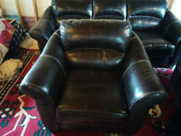 QUALITY LEATHER COUCH SOFA and CHAIR -thick heavy leather