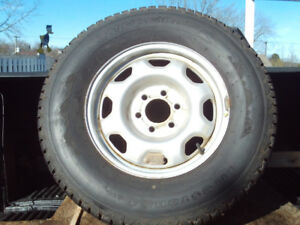 4 Winterforce Firestone Studded Tires and Rims