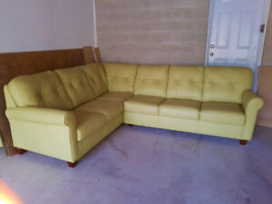 """Top Quality """" Boss"""" Leather Sectional Couch, Valued Over $7000"""