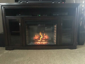Fire Place Entertainment Stand