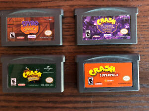 Crash Bandicoot GBA Games