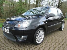 06/56 FORD FIESTA 1.6 ZETEC-S 3DR HATCH IN MET BLACK WITH ONLY 59,000 MILES
