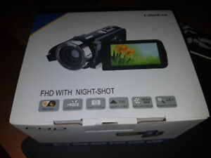 New Camcorder, 1080P Full HD Video Camera 24.0MP with Microphone