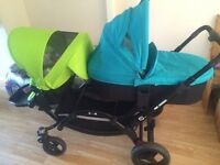 ABC Zoom double pram pushchair