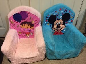 Dora and Mickey Mouse foam chair