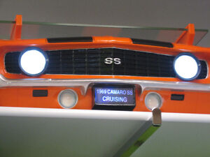 Wall Shelf 3-D 1964 Ford Mustang with Lights & Tempered Glass