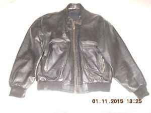Men's bomber style leather jacket for sale.