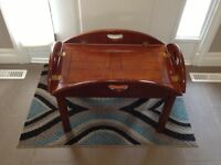 Good condition BOMBAY Co. Butlers tray and stand for sale!