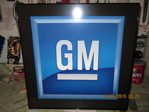 Lighted GM Sign.