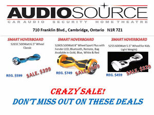 Self Balancing Hoverboards @ Audiosource Inc. Cambridge Kitchener Area image 1
