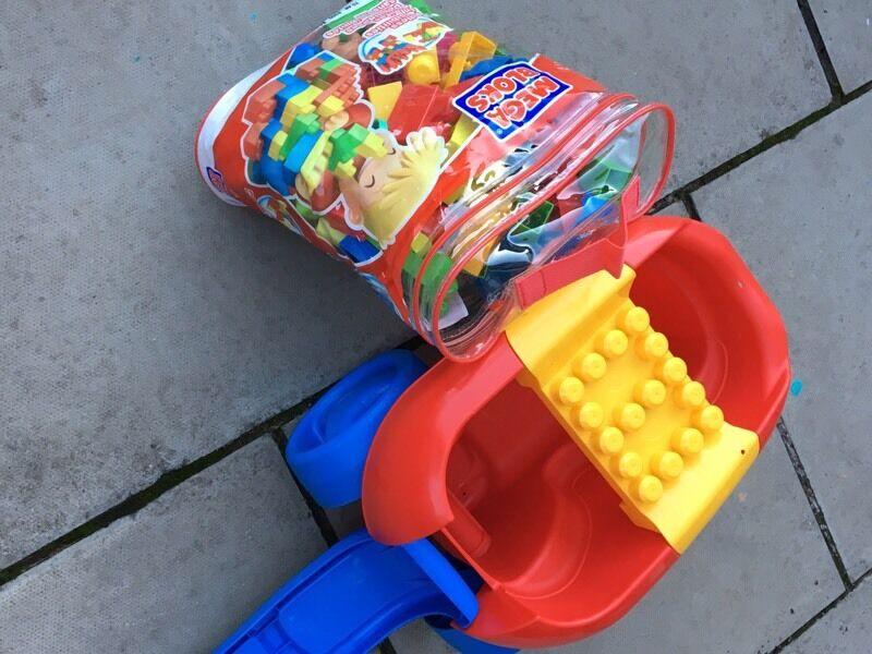 Mega Bloks bag and truck
