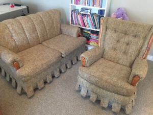 Matching love seat and swivel chair