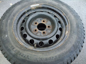 General Ultimax Arctic R15 205/70 960 Snow Tires On Steel Rims